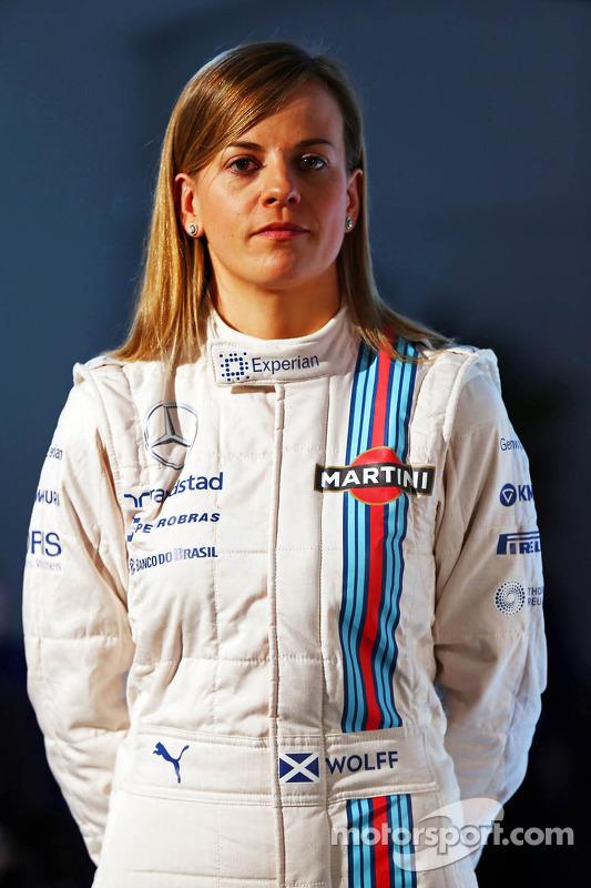Susie Wolff del Equipo Williams Martini F1. Presentación 2014.