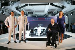 Williams-Teampräsentation 2014: Felipe Massa, Valtteri Bottas, Frank Williams, Claire Williams