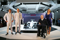 Felipe Massa en Valtteri Bottas, Sir Frank Williams, Claire Williams, Williams Martini F1 Team