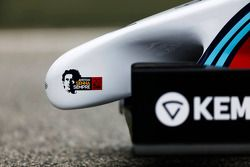 Homenaje Ayrton Senna en el Williams Martini Racing FW36