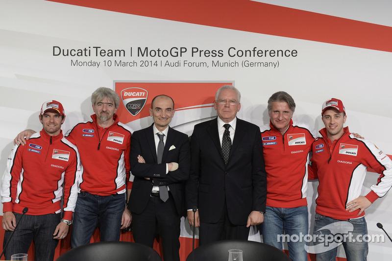 Conferencia de prensa de Ducati, Andrea Dovizioso y Cal Crutchlow
