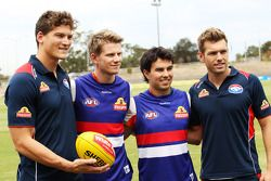 Will Minson, Western Bulldogs Australian Rules Footballer, and Shaun Higgins, Western Bulldogs Austr