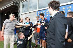 Will Minson, Western Bulldogs Australian Rules Footballer and Nico Hulkenberg, Sahara Force India F1