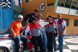 RJ Lopez, TA race winner with his crew