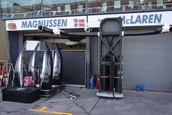 McLaren setting up in the pits.