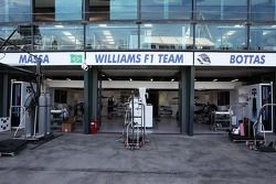 Williams pit garages.