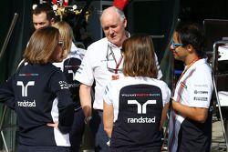 Claire Williams, Williams Deputy Team Principal, and Felipe Massa, Williams (Right)