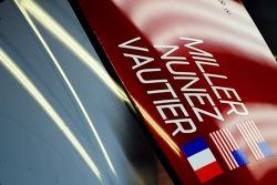 SpeedSource车队乔尔·米勒,特里斯坦·努涅斯,特里斯坦·沃特尔驾驶的07号马自达细节