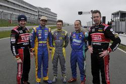 The 5 BTCC Champions Gordon Shedden, Andrew Jordan, Colin Turkington, Fabrizio Giovanardi and Matt N