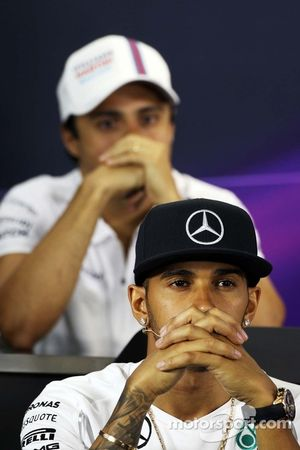 Lewis Hamilton, Mercedes AMG F1 FIA Basın Konferansı'nda