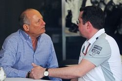 Ron Dennis, McLaren Executive Chairman, met Eric Boullier, McLaren Racing Director