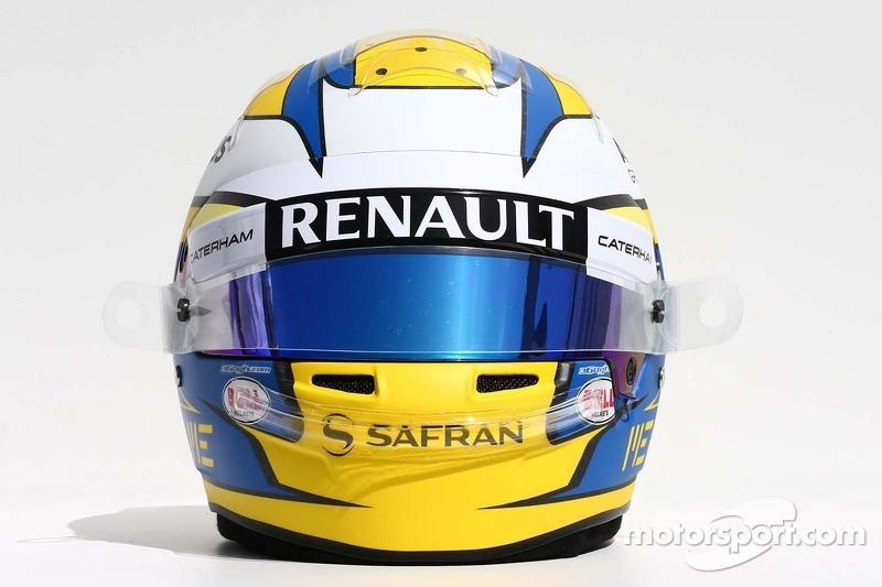 Il casco di Marcus Ericsson, Caterham