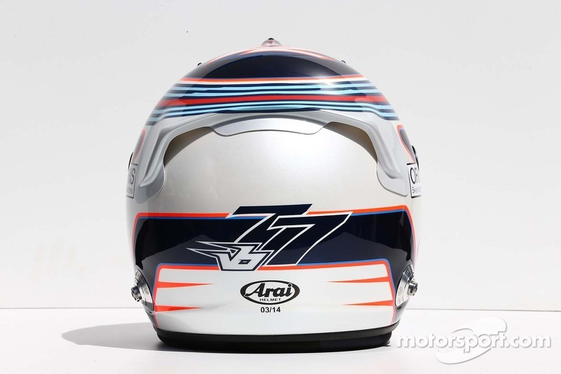 Il casco di Valtteri Bottas, Williams