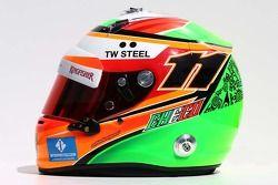 De helm van Sergio Perez, Sahara Force India F1