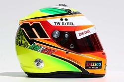 Casque de Sergio Perez, Sahara Force India F1
