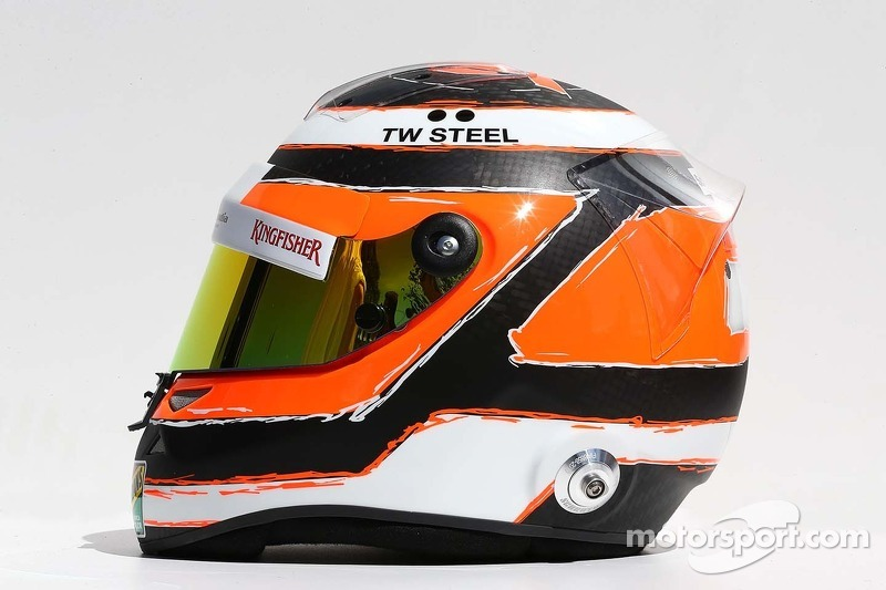 Il casco di Nico Hulkenberg, Sahara Force India F1