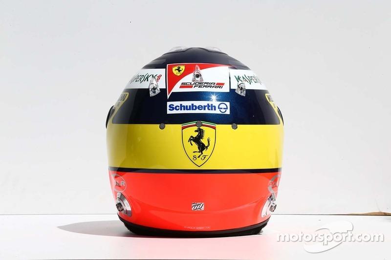 Il casco di Pedro De La Rosa, Ferrari, pilota collaudatore