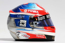 Casque de Romain Grosjean, Lotus F1 Team