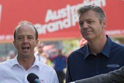 Andrew Westacott (E), CEO da Australian Grand Prix Corporation CEO e James Warburton, CEO do V8 Supe