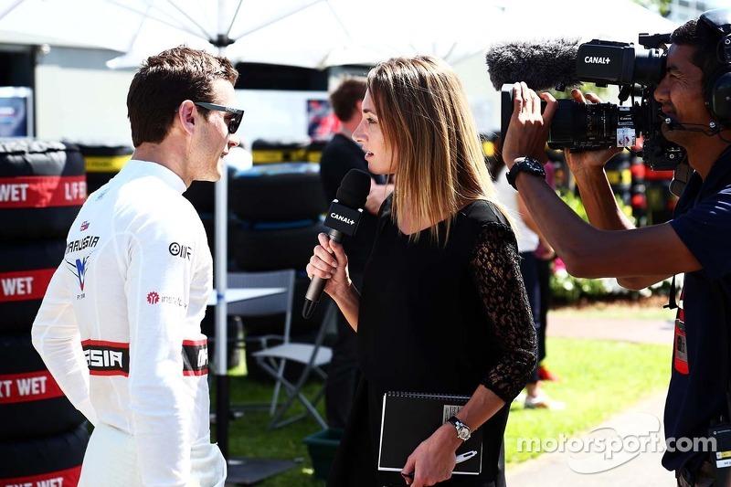 玛鲁西亚F1车队的朱尔斯·比安奇和媒体