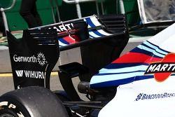 Valtteri Bottas, Williams FW36, achtervleugel