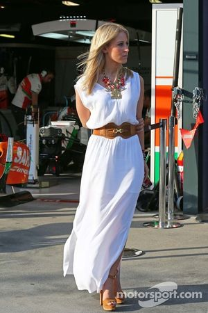 Jennifer Becks, girlfriend of Adrian Sutil, Sauber.