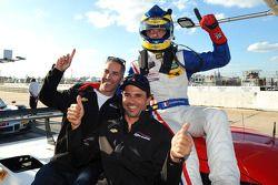 Classe P, vincitore della pole Sébastien Bourdais con i compagni di squadra Joao Barbosa e Christian