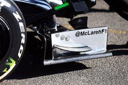 McLaren MP4-29 ön kanat detayı