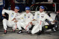 Vincitori GTLM Jörg Bergmeister, Patrick Long, Michael Christensen