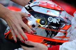 Casque de Jules Bianchi, Marussia F1 Team