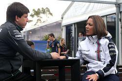 Toto Wolff, Mercedes AMG F1 Hissedarı ve Genel Müdürü ve Claire Williams, Williams Yardımcı Takım Pa