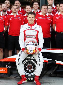 Jules Bianchi, il Team Marussia F1 in una fotografia di squadra