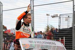 Nico Hulkenberg, Sahara Force India F1, tijdens de rijdersparade