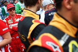 Kimi Räikkönen lors de la parade des pilotes