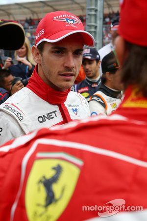 Jules Bianchi, Marussia F1 Takımı pilot geçiş töreninde