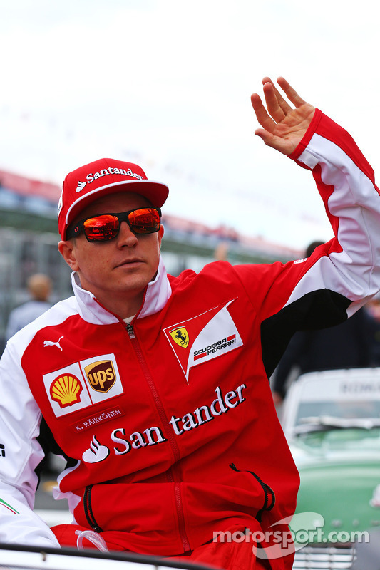 Fahrerparade: Kimi Räikkönen, Ferrari