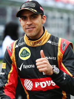 Pastor Maldonado lors de la parade des pilotes