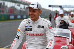 Kevin Magnussen, McLaren pilot geçiş töreninde