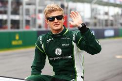 Marcus Ericsson, Caterham alla parata dei piloti