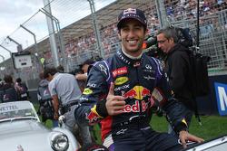 Daniel Ricciardo lors de la parade des pilotes