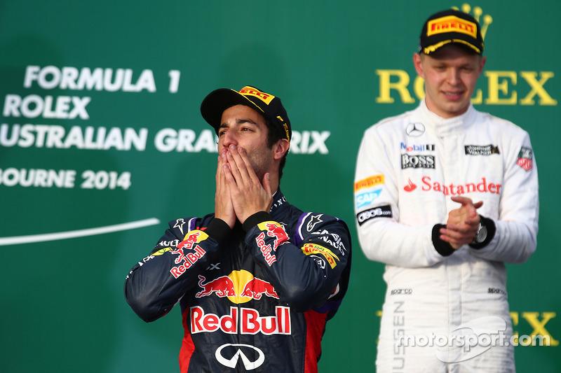 Австралия-2014: дебют в Red Bull Racing, второе место и дисквалификация