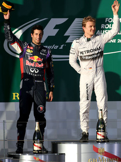 Daniel Ricciardo, Red Bull Racing ; Nico Rosberg, Mercedes AMG F1 Team