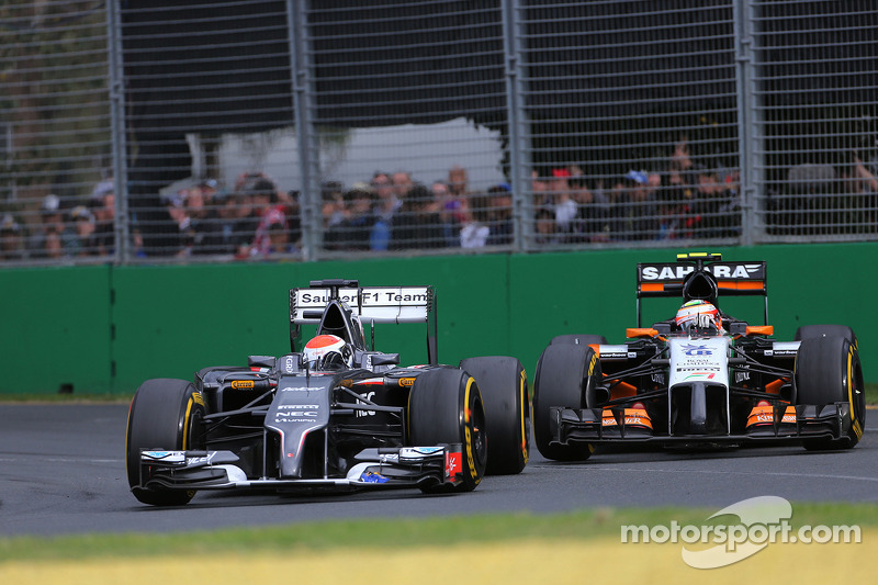 Adrian Sutil, Sauber F1 Team e Sergio Perez, Sahara Force India 16