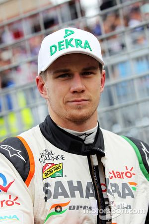 Nico Hulkenberg, Sahara Force India F1, op de grid
