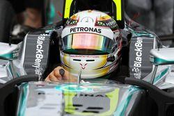 Lewis Hamilton, Mercedes AMG F1 W05 on the grid