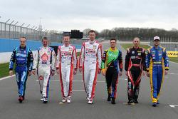 De 7 BTCC-kampioenen op de grid in 2014