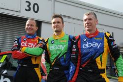 eBay Motors-trio Rob Collard, Colin Turkington en Nick Foster