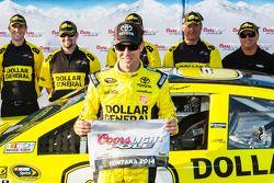 L'autore della pole Matt Kenseth del team Joe Gibbs Racing Toyota