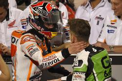 Ganador de la pole Marc Márquez y el segundo puesto Alvaro Bautista