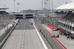 The GP2 pit lane and Bahrain Drag Strip